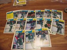 83/84 OPC HOCKEY HARTFORD WHALERS TEAM SET 15 DIFF CARDS PACK FRESH