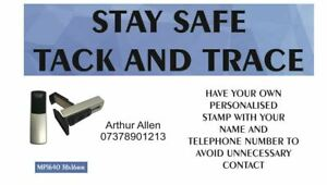TRACK AND TRACE NAME AND PHONE NUMBER POCKET STAMP