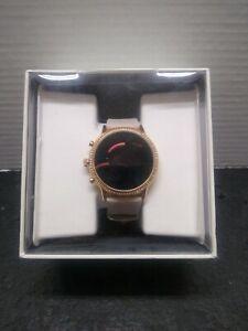 Fossil Gen 5 Julianna Rose Gold Blush Leather 44mm Smartwatch FTW6054*