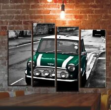 Rover Austin Mini Wall Cavas Art Picture Decor / British Rasing Green Car Poster
