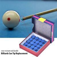 50pcs/Box 10mm Glue-on Pool Cue Tip Billiards Snooker Cue Stick Caps Accessory