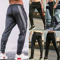 Mens Track Jogger Pants Slim Sweatpants Running Sports Bottoms Active NEW X903