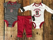 NIKE STANFORD UNIVERSITY CARDINALS 3 PIECE PANTS BABY BODYSUITS SIZE 6-9 MONTHS