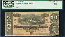 T68 $10 1864 - Confederate Currency - PCGS V. Ch. 64