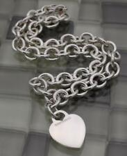 """Tiffany & Co. Heart Tag Chain Necklace Choker 15.5"""" - 67.1gr"""