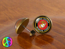 US United States Marine Corps Fashion Jewelry Earrings Stud Men Women Gift