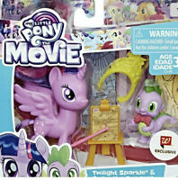 """MY LITTLE PONY """"THE MOVIE"""" EXCLUSIVE SET - TWILIGHT SPARKLE & SPIKE THE DRAGON!"""