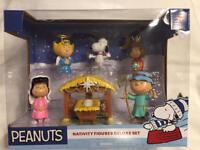 Peanuts Christmas Nativity Figure Deluxe Set Snoopy Charlie Brown 2018 NIB