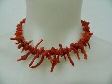 Girocollo collana in antico Corallo sardo Rametti di corallo vintage OMA19