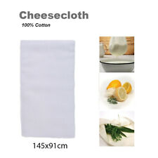100% Cotton Cheesecloth White 2 Yards Reusable Great Filter Strainer for Cheese