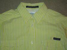 Columbia Pfg Super Bonehead Women'S L/S Vented Fishing Shirt Large Yellow Cotton