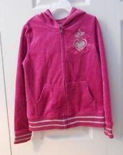 NWT Children's Place Velour Dark Pink Zip-Up Sparkle Jacket Size 7/8