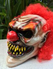 Scary Monster Clown Custom Motorcycle Helmet Killer CLOWN Visor with Hair DOT