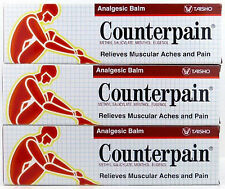 3x120g COUNTERPAIN HOT HEAT ANALGESIC WARM BALM CREAM MUSCLE PAIN TENSION RELIEF
