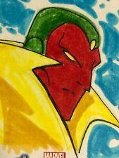 Marvel Avengers Assemble - hand-drawn artist sketch card - Vision