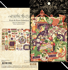 Graphic 45 FRUIT & FLORA Die Cuts x51