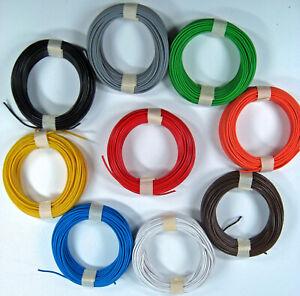 10 m Litze 0,14 mm Farben/Mengen wählbar mit Rabatt z. B. für Märklin Spur H0