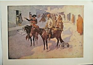 Frederic Remington, A Spanish Escort, Horses, Vintage,1908 Antique Art Print