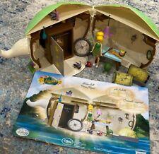 Disney FAIRIES TINKERBELL HOUSE TEA POT PLAYSET THE LOST TREASURE RARE
