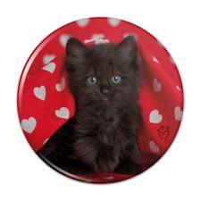 Black Ragdoll Tiffany Cat Hearts Love Button Refrigerator Magnet