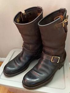 RARE Brass Tokyo Clinch Engineer Boots Brown 10/11 Japan