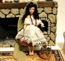 Miniature Porcelain Doll Girl Dollhouse 1:12