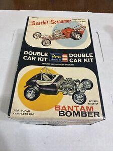 REVELL DOUBLE DRAG SCARLET SCREAMER & BANTAM BOMBER ORIGINAL KIT! CIRCA 1963!