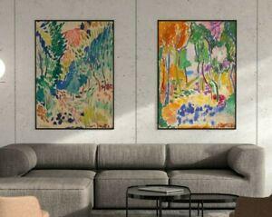 Matisse Poster Set of 2, Matisse Print, Landscape at Collioure, Floral Art Print