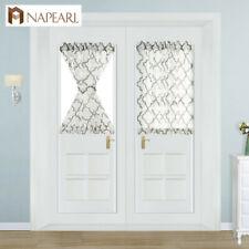 NAPEARL 1 Panel Striped Tulle Door Drapes Classic Simple Design Decor Curtains