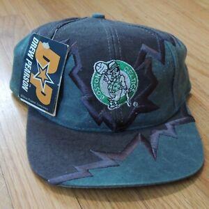 Boston Celtics Drew Pearson Vintage Strapback Hat Cap Shockwave Shatter NBA NEW