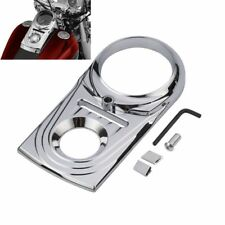 Chrome Dash Panel Insert Cover Die Cast Sculpted For Harley Dyna Softail Fat Boy