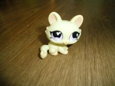 LPS Littlest Pet Shop Kitty Cat Cream Crouching Pink Purple Eyes #848