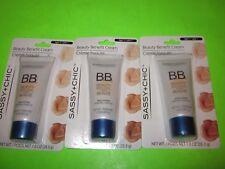 3 New Tubes of Sassy+Chic B.B. Beauty Benefit Cream Light