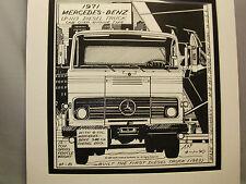 1971 Mercedes Benz Truck   Auto Pen Ink Hand Drawn  Poster Automotive Museum