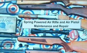 Spring powered air rifle pistol maintenance repair book guide BSA WEBLEY DIANA