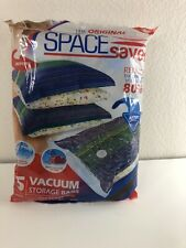 5 Large 80x60cm Vacuum Space Saver Bags with Travel Hand Pump