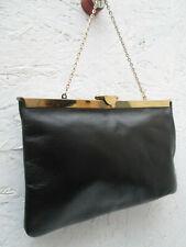 -AUTHENTIQUE   sac à main type soirée ETRA cuir   TBEG   bag vintage