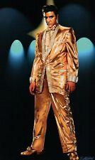 Elvis Presley Wearing a Gold Lamé Suit & Shoes, The King, Rock'n Roll, Postcard