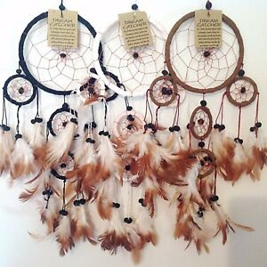 DREAM CATCHER SUEDE LEATHER MANY COLOURS NATIVE AMERICAN KIDS BEDROOM DECOR