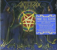 ANTHRAX FOR ALL KINGS LIMITED EDITION DOPPIO CD DIGIPACK NUOVO SIGILLATO !!