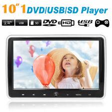 "10.1"" Car Headrest DVD Player Auto Monitor Video Game FM IR Speakers Q5M7"