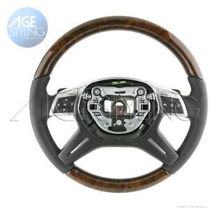 Mercedes-Benz ML350 ML400 ML550 GL450 GL63G63 Walnut Wood Leather Steering Wheel