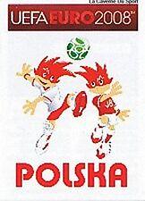 N°228 VIGNETTE PANINI MASCOTTE POLAND POLSKA EURO 2008 STICKER