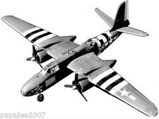 "Model Airplane Plans (Uc): Douglas A-20G Havoc Scale 54"" for .35-.45 Engines"