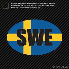 SWE - Sweden Oval Flag Sticker Die Cut Decal Self Adhesive Vinyl SE