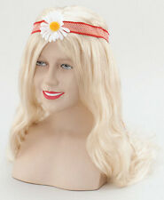 WIG BLONDE HIPPY lady 60s 70s FLOWER POWER mamma mia