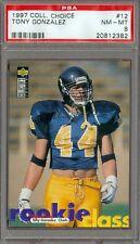 1997 UD Collectors Choice Tony Gonzalez #12 PSA 8 Rookie Chiefs Falcons