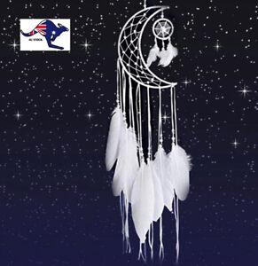 White Moon Crescent Dream Catcher Home Decor Gift