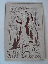 1923 Künstlerkarte  A.V. Hrsky Tschechien? Frohe Ostern