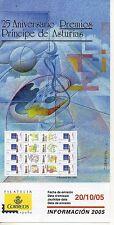 España 25 Aniversario Premios Principe de Asturias año 2005 (DA-315)